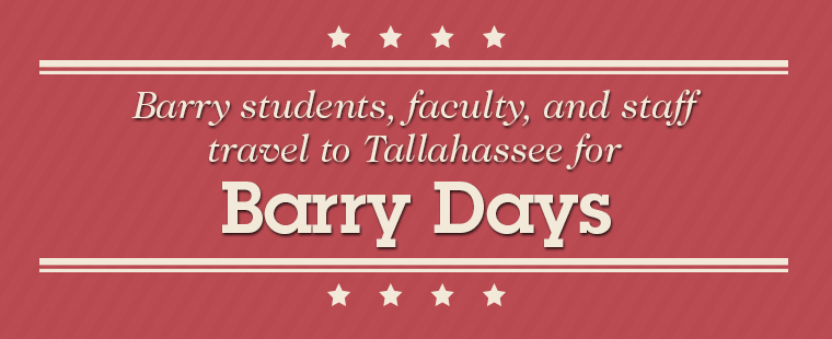 Barry students, faculty, and staff to travel to Tallahassee for Barry Days