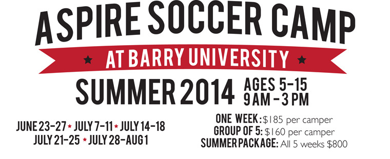 2014 Aspire Soccer Camp At Barry University