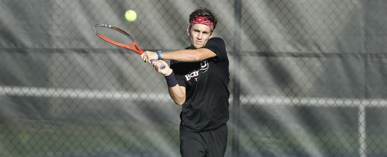 Men's Tennis Ends Regular Season with Win