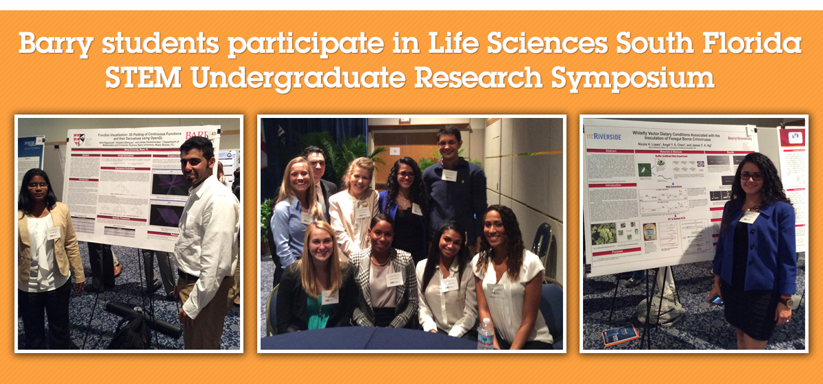 Barry students participate in Life Sciences South Florida STEM Undergraduate Research Symposium