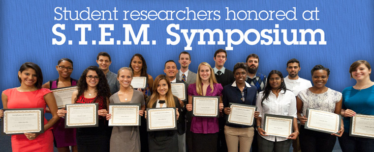 Student researchers honored at 6th Annual S.T.E.M. Symposium