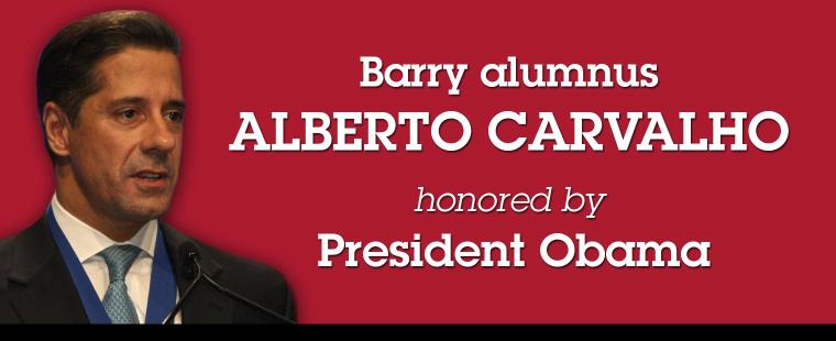 Barry alumnus and Miami-Dade schools chief honored at White House
