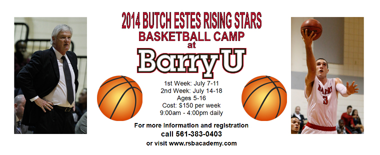 Barry Hosts Rising Stars Basketball Camps