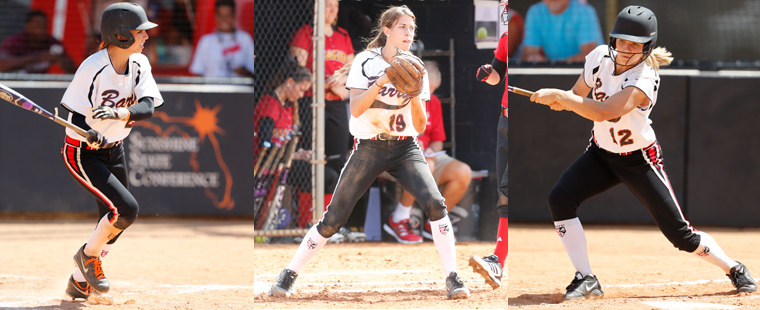 Three Bucs Make All-SSC Softball Team