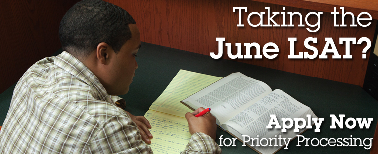Special Handling for Applications from June LSAT Takers