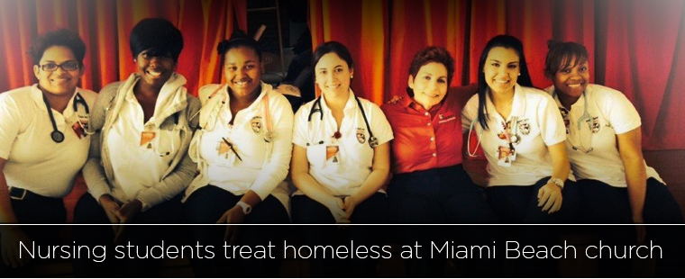 Barry nursing students give back to Miami Beach community
