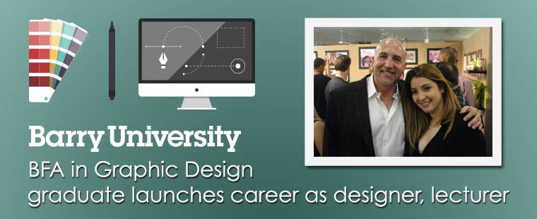 Barry BFA in Graphic Design graduate launches career as designer, lecturer