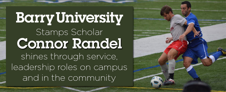 Barry Stamps Scholar: student-athlete Connor Randel