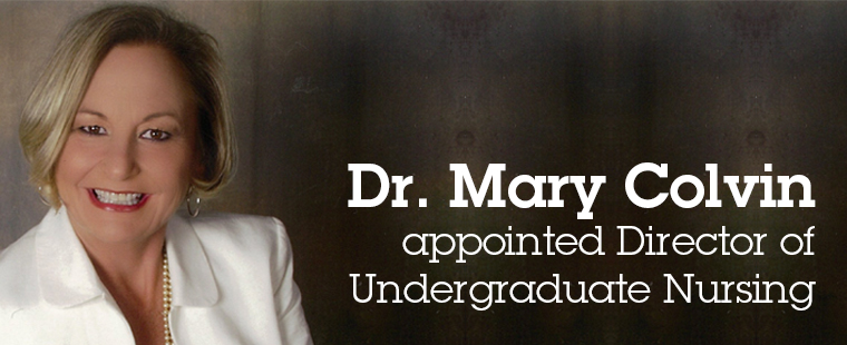 Mary Colvin appointed Director of Undergraduate Nursing