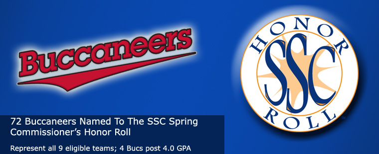 72 Buccaneers Named To the 2014 SSC Spring Commissioner's Honor Roll