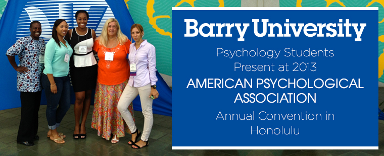 Psychology students present at 2013 APA Annual Convention in Honolulu