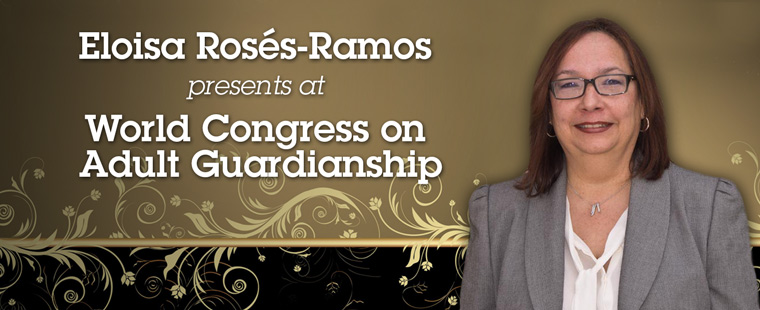 Eloisa Rosés-Ramos presents at the World Congress on Adult Guardianship
