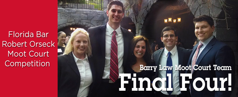Barry's Moot Court Team Makes Final Four