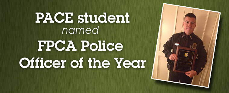 PACE student named recipient of FPCA Lee McGehee Police Officer of the Year Award