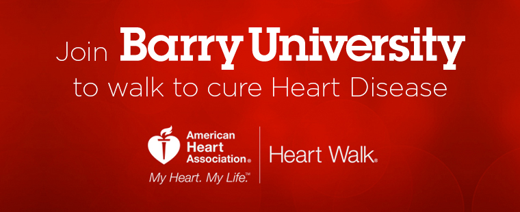 Join Barry University at the American Heart Association's Miami-Dade Heart Walk