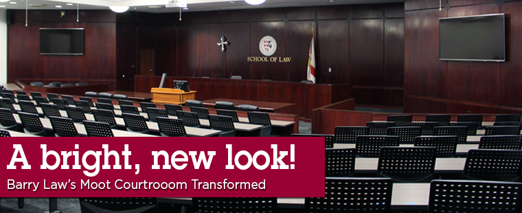 Major Upgrades for Law School's Moot Courtroom