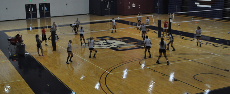 Volleyball in Preseason Mode on Road