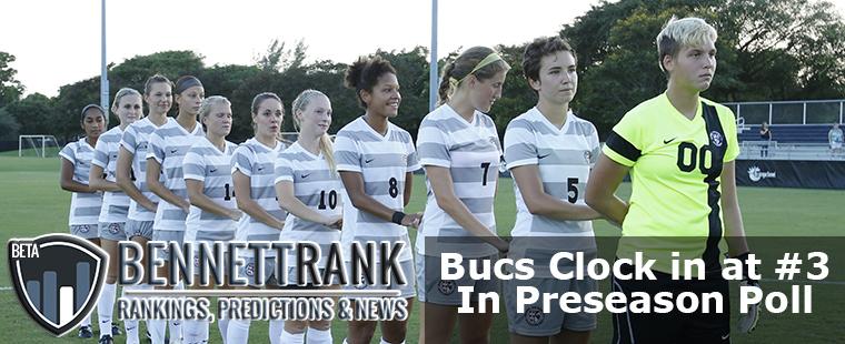 Women's Soccer Clocks In at #3 in BennettRank Preseason Poll