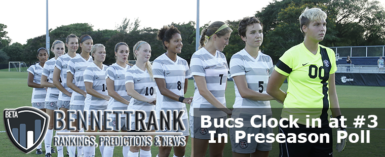 Women's Soccer Clocks In at #3 in BennettRank Preseason Poll