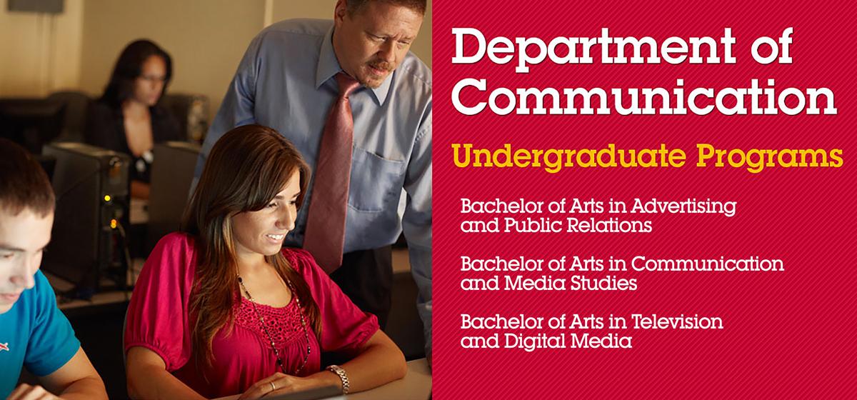 Department of Communication Undergraduate Programs