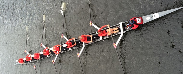 Rowing: Varsity 8+ Takes 6th at Head of Charles