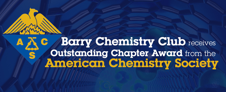 Barry Chemistry Club receives Outstanding Chapter Award from the American Chemistry Society