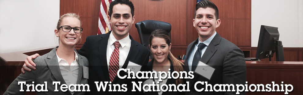 Trial Team Defeats Harvard, Georgetown to Win National Championship