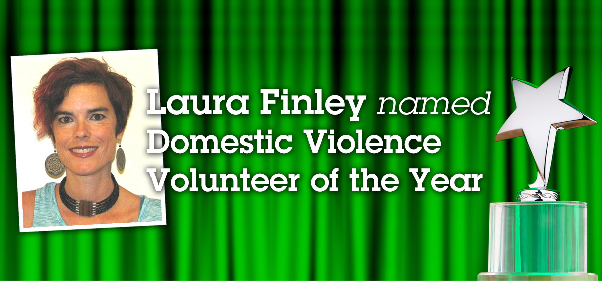 Laura Finley named Domestic Violence Volunteer of the Year