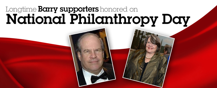 Barry University supporters honored on National Philanthropy Day