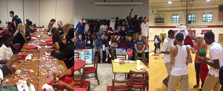 Barry University Athletics Hosts HANDY Christmas Party
