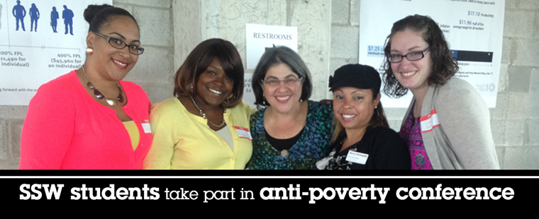 SSW students take part in anti-poverty conference
