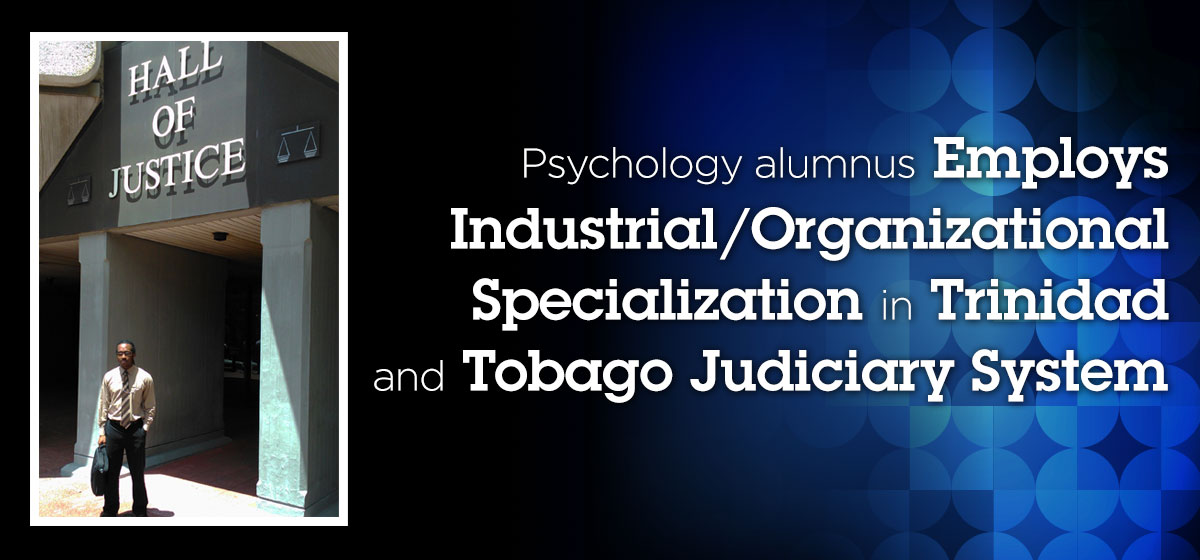 Barry Alumnus Employs Industrial/Organizational Specialization in Psychology