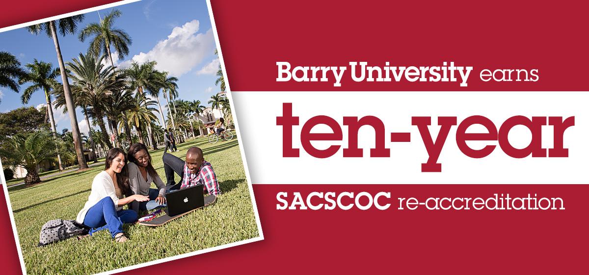 Barry University earns ten-year SACSCOC re-accreditation