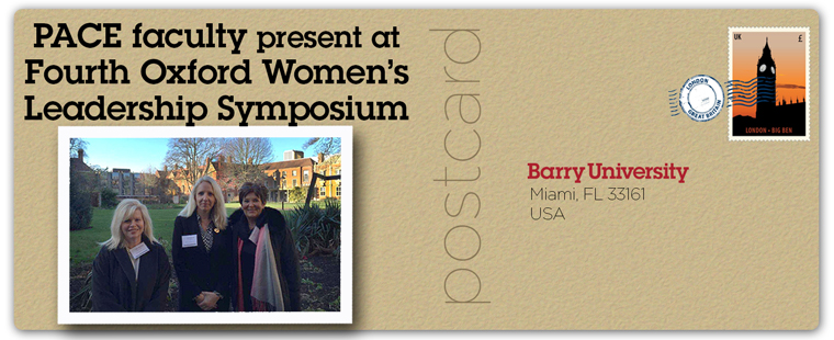 PACE faculty among presenters at Fourth Oxford Women's Leadership Symposium