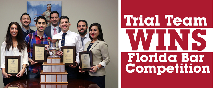 Trial Team Wins Florida Bar Competition
