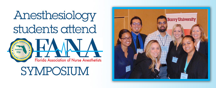 Barry's Anesthesiology program sponsors students to attend FANA symposium