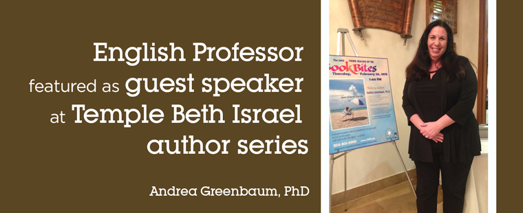 English Professor featured as guest speaker at Temple Beth Israel author series
