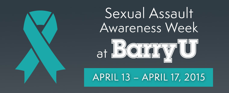 Sexual Assault Awareness Week: April 13 – April 17, 2015