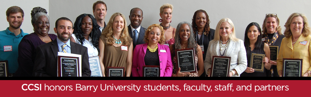 CCSI honors Barry students, faculty, staff, and partners for achievements in community engagement at 2nd Annual Community Engagement Awards