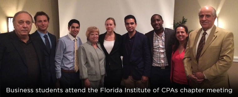 Business students attend annual Florida Institute of Certified Public Accountant's chapter meeting