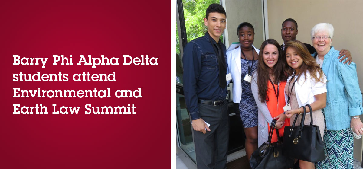 Barry Phi Alpha Delta students attend Environmental and Earth Law Summit
