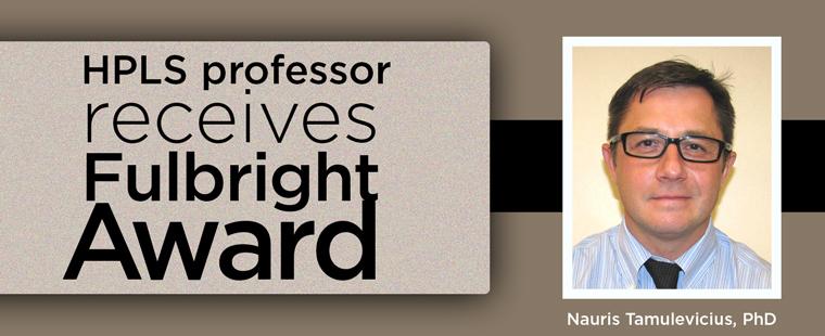 HPLS professor receives Fulbright Award