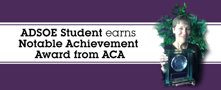 ADSOE Student earns Notable Achievement Award from ACA