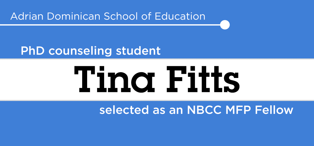 PhD counseling student Tina Fitts selected as an NBCC MFP Fellow