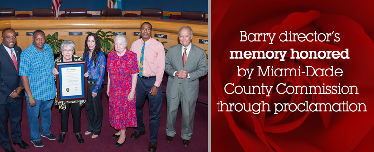 Barry director's memory honored by County Commission through proclamation