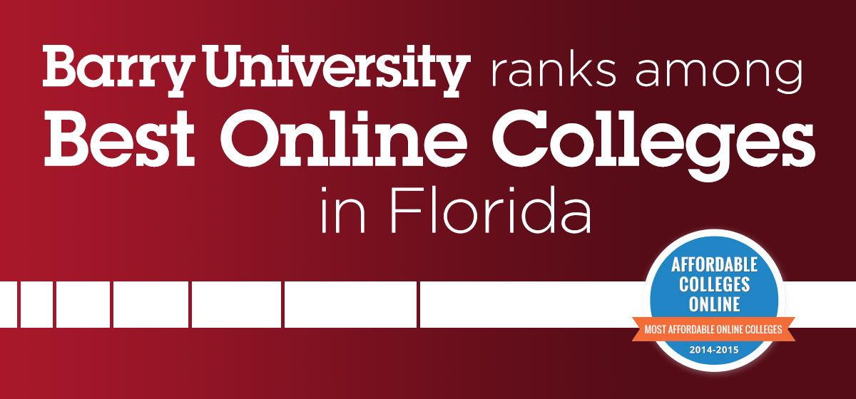 Barry University ranks among best online colleges in Florida