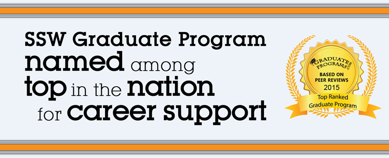 SSW Graduate Program named among top in the nation for career support