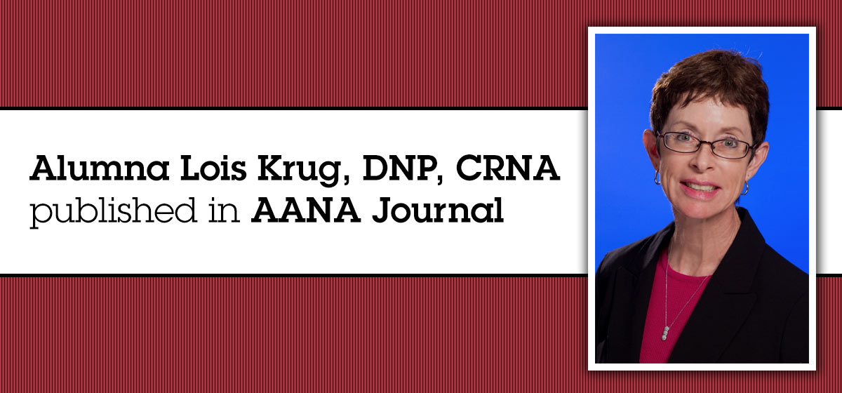 Barry alumna published in AANA Journal