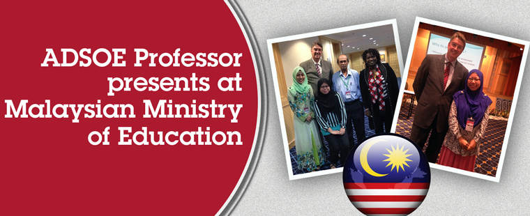 ADSOE Professor presents at Malaysian Ministry of Education