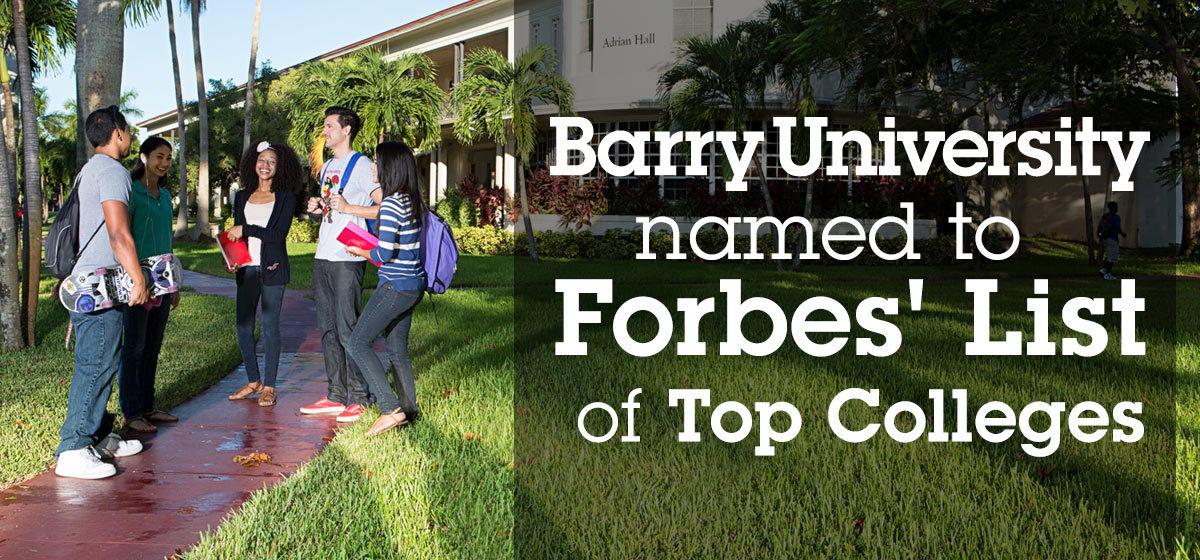 Barry University named to Forbes list of Top Colleges for 2015